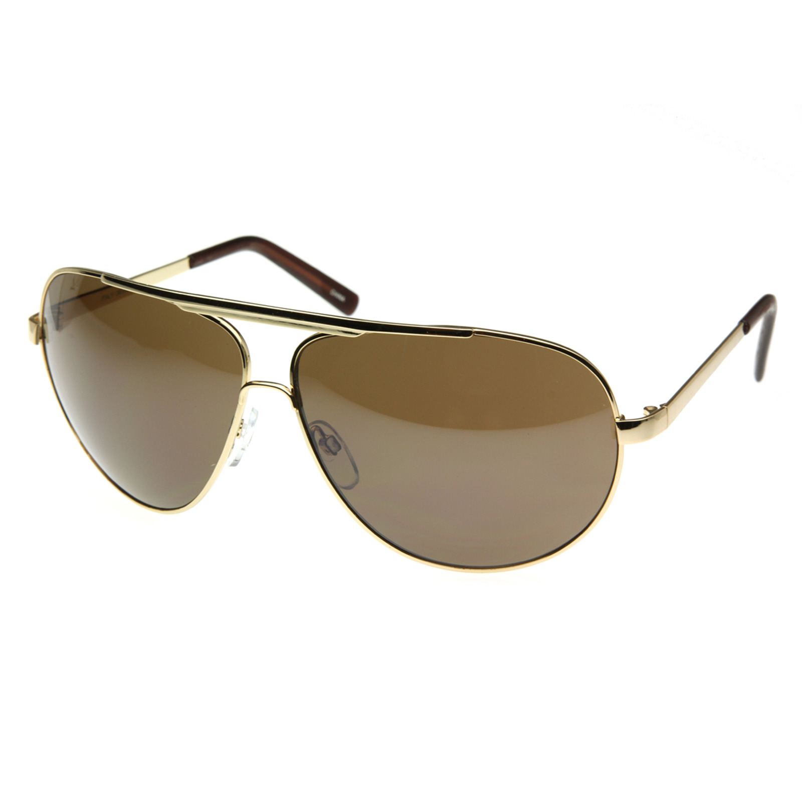 Oversized Gold Frame Sunglasses : High Quality Full Frame Big X-Large Oversized Metal ...