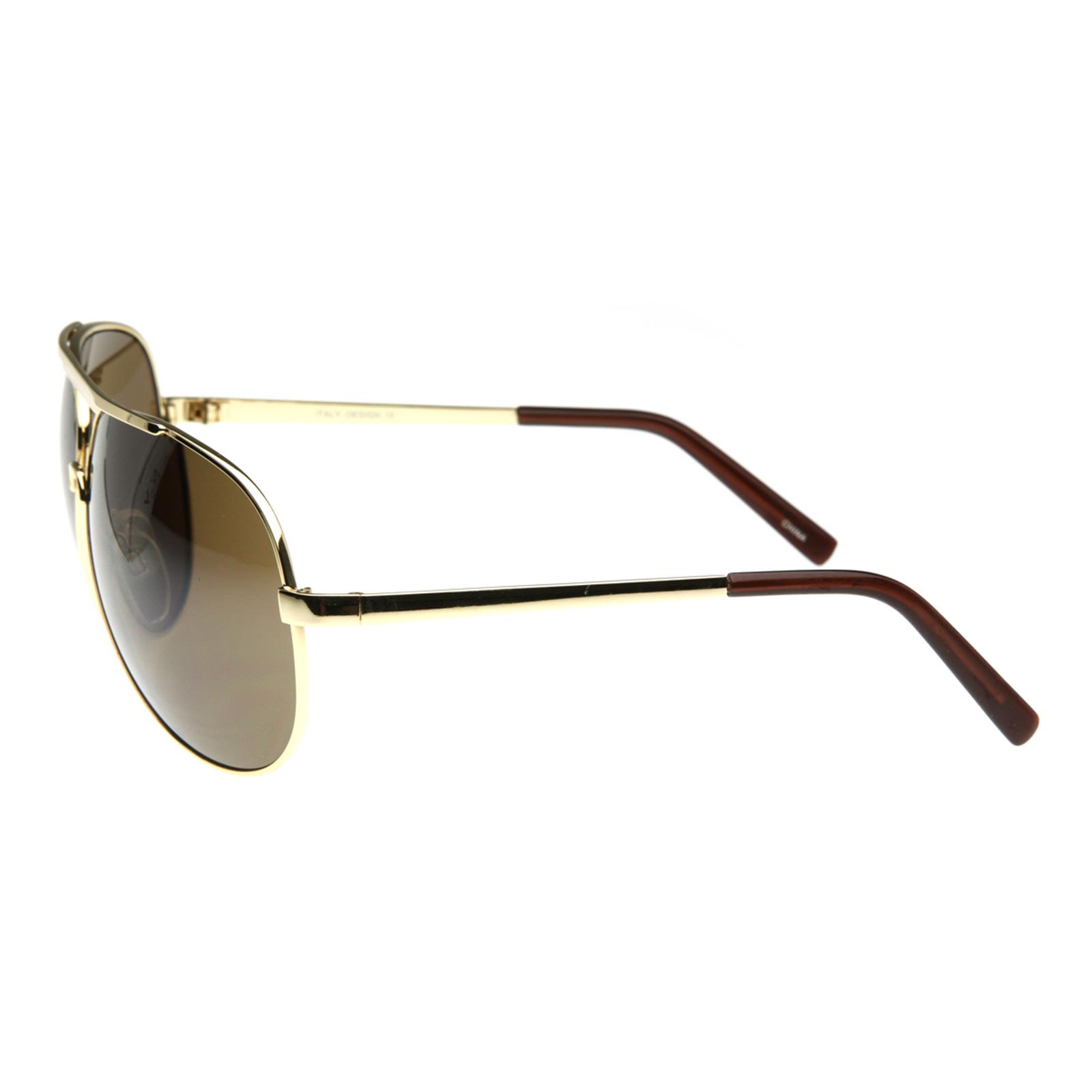 3c11ad4873 Metal Thin Frame Oversize Mirrored Aviator Sunglasses 1580 70mm on ...