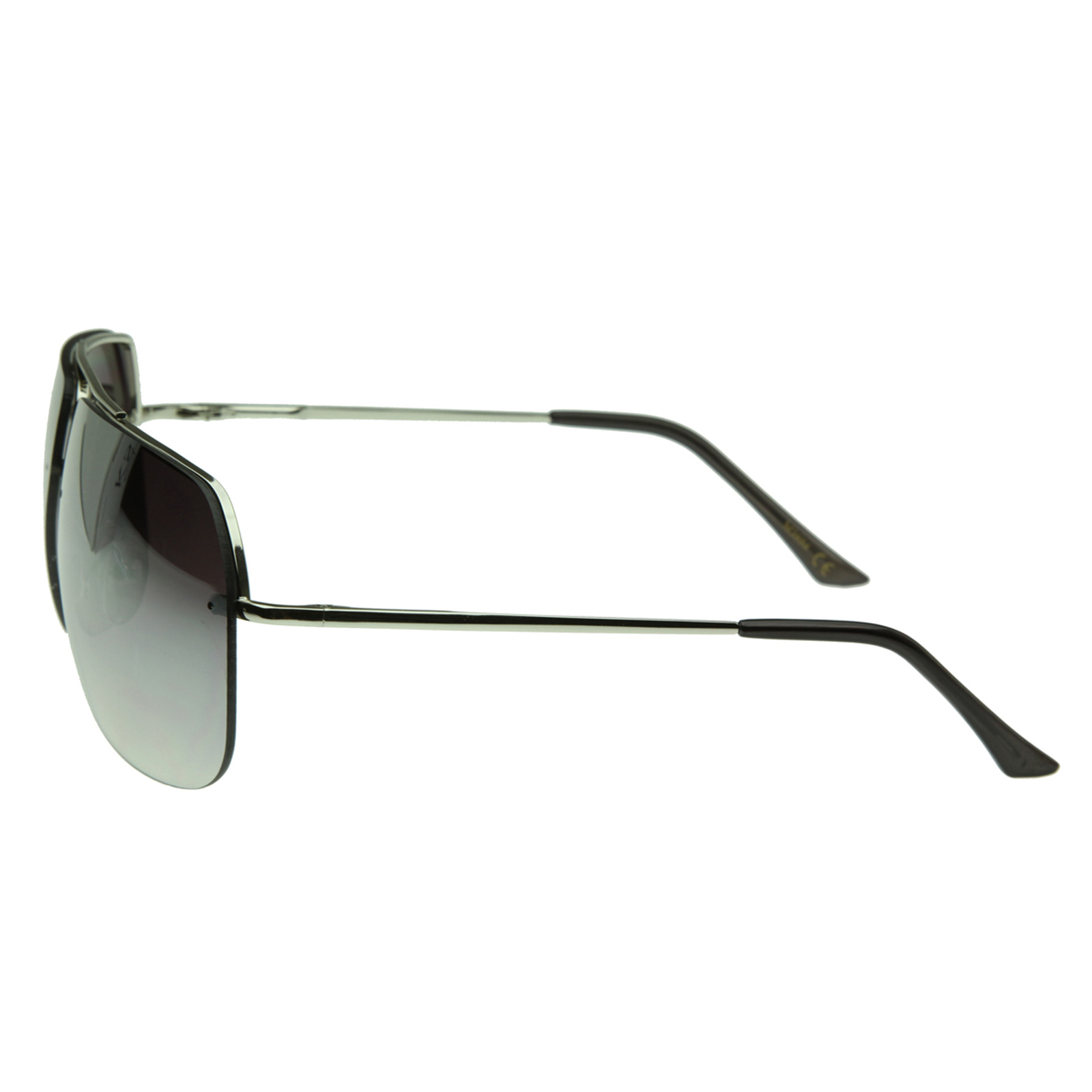 New Mens Frameless Quality Square Rimless Metal Aviator ...
