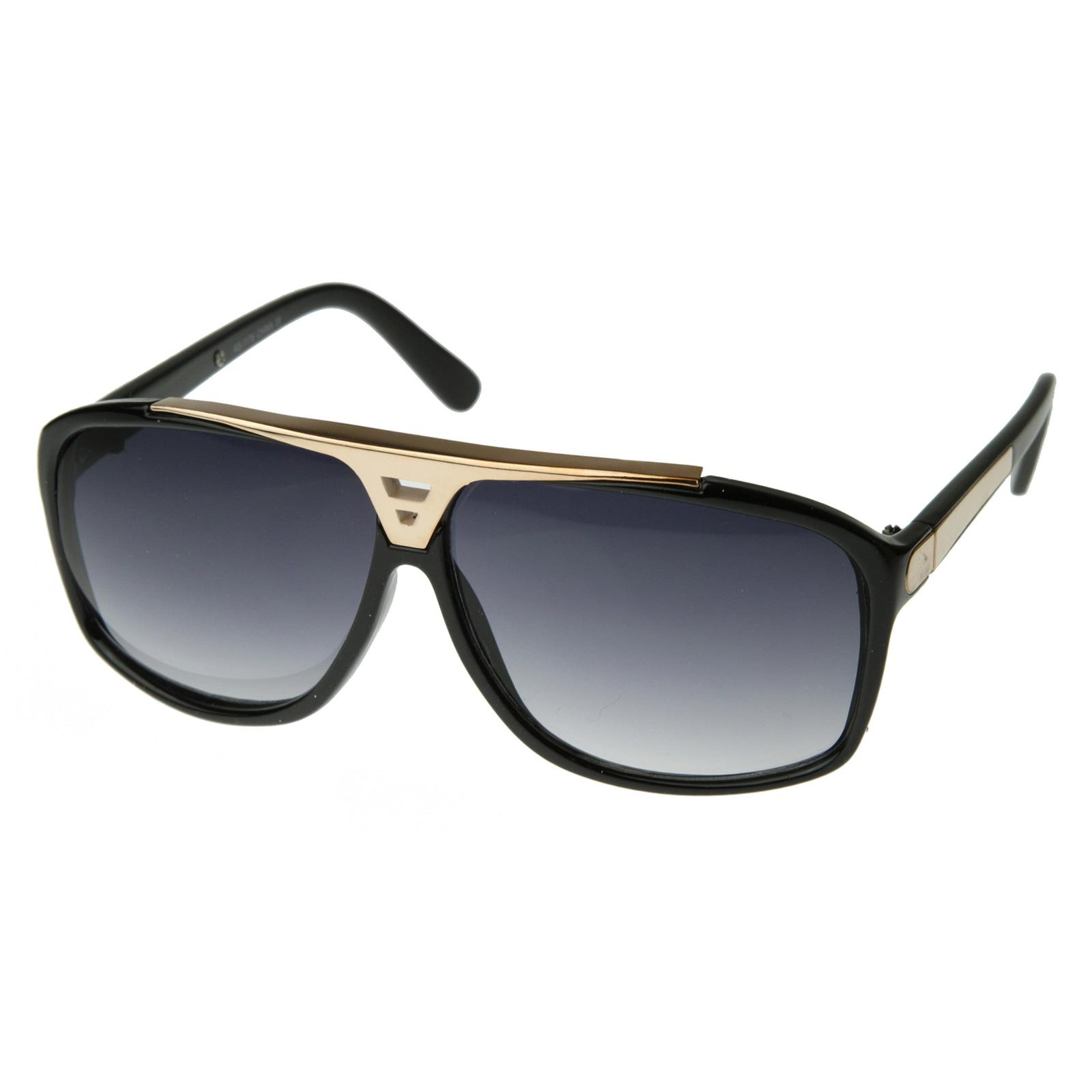 ... Designer Inspired High Fashion Square Flat Top Aviator Sunglasses 2903