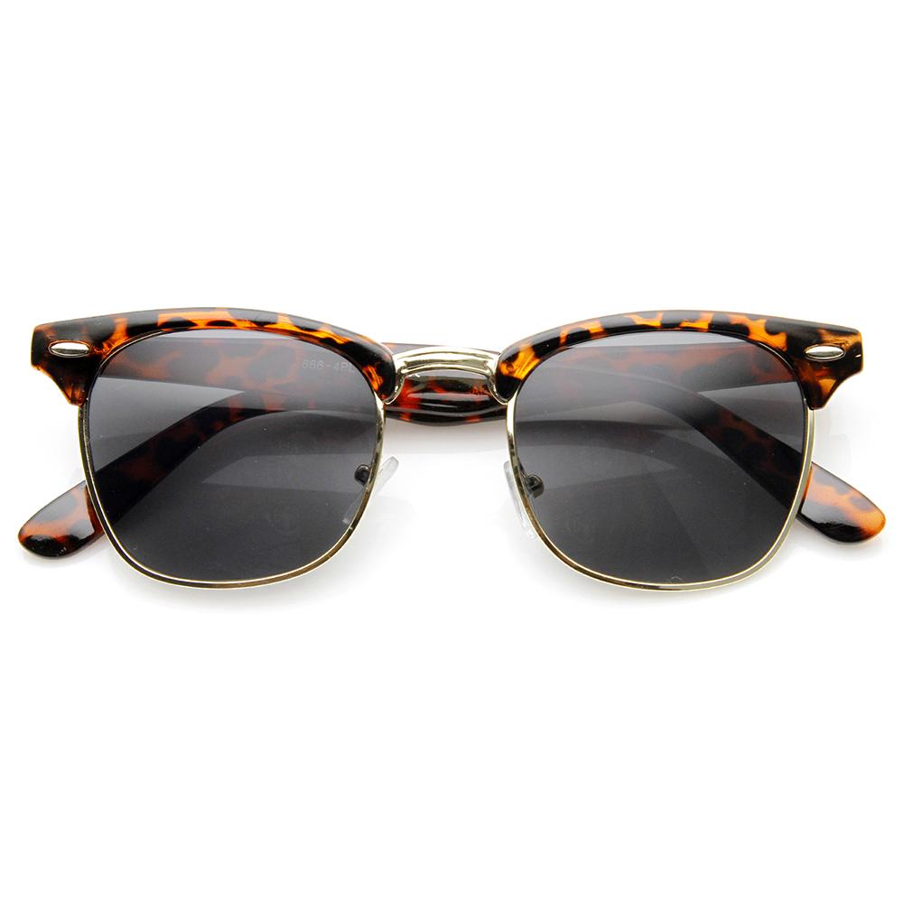 Half Frame Horn Rimmed Glasses : Polarized Classic Half Frame Semi-Rimless Horn Rimmed ...