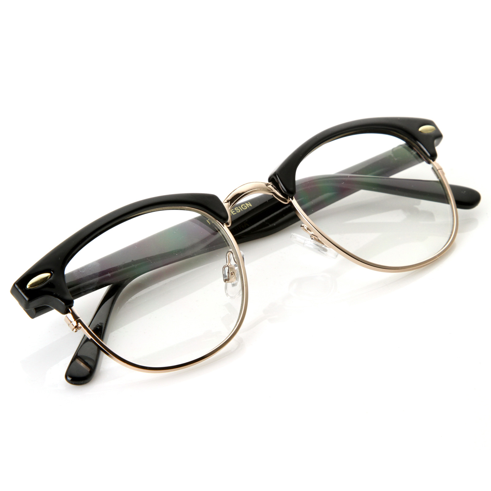 New Original RX Optical Classical Clear Lens Half Frame ...