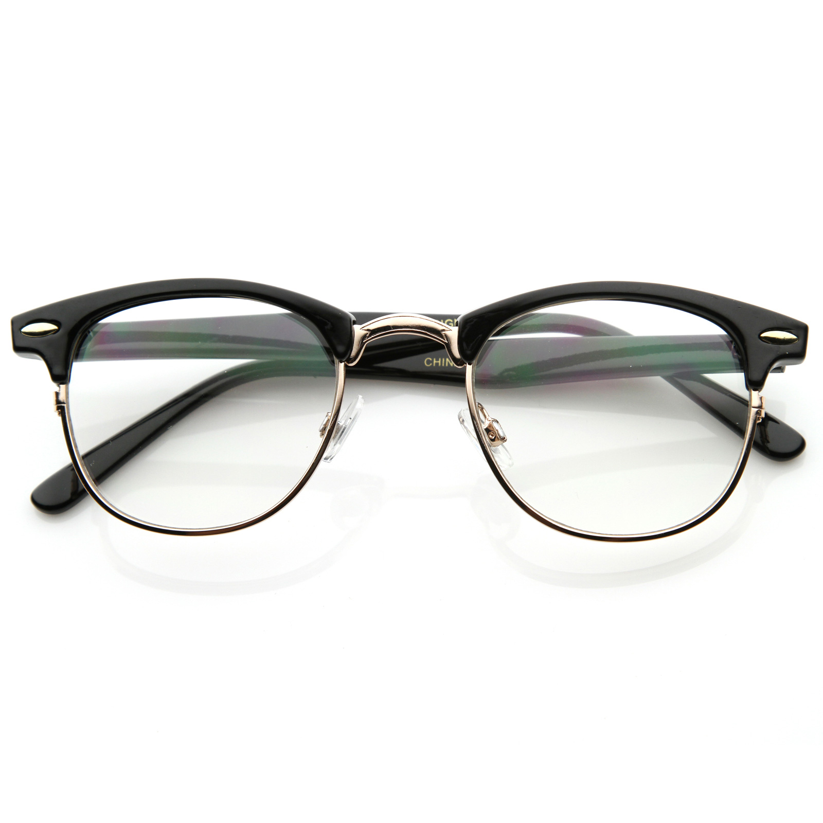 Half Frame Vintage Glasses : New Original RX Optical Classical Clear Lens Half Frame ...