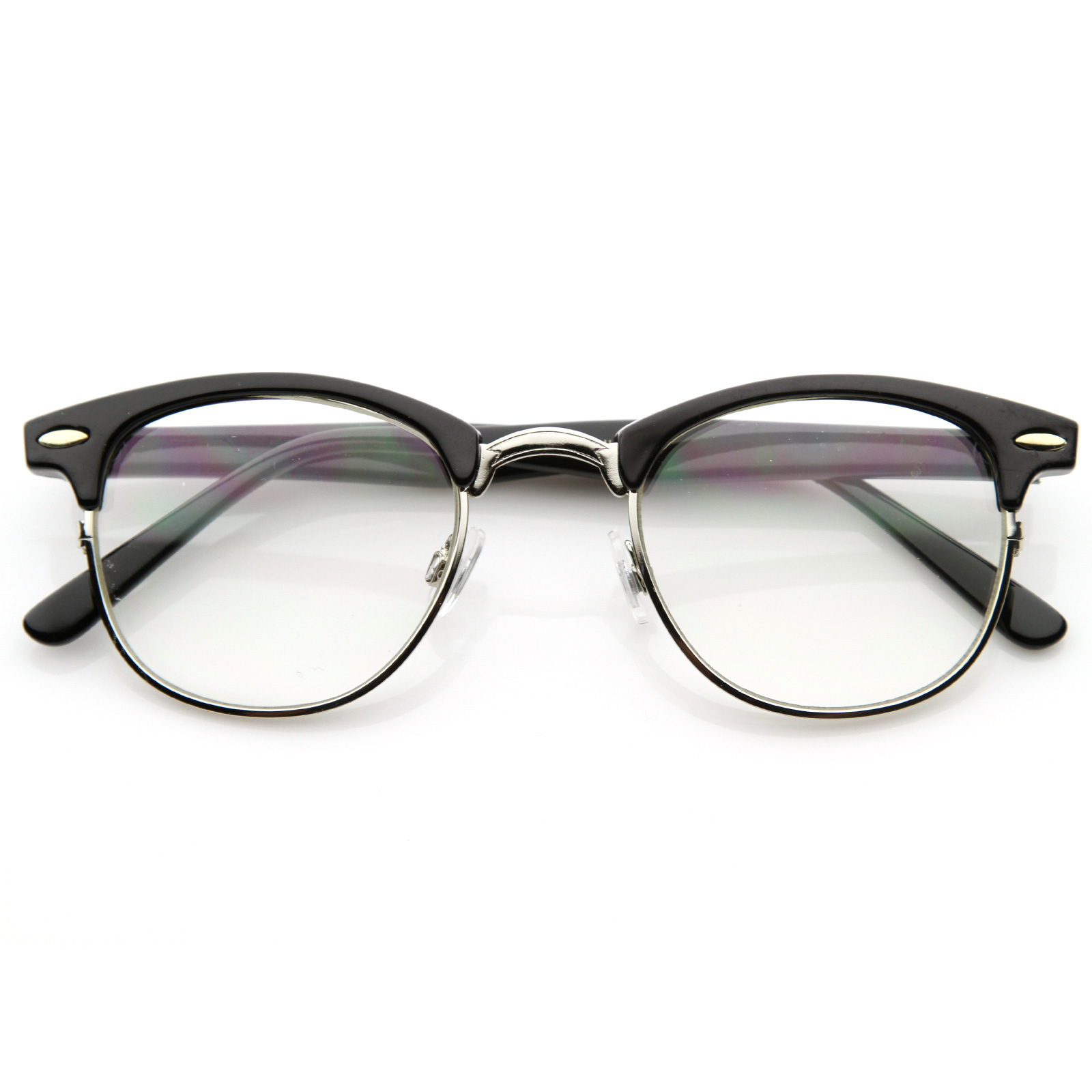 Wayfarer Eyeglasses Half Frame : New Original RX Optical Classical Clear Lens Half Frame ...