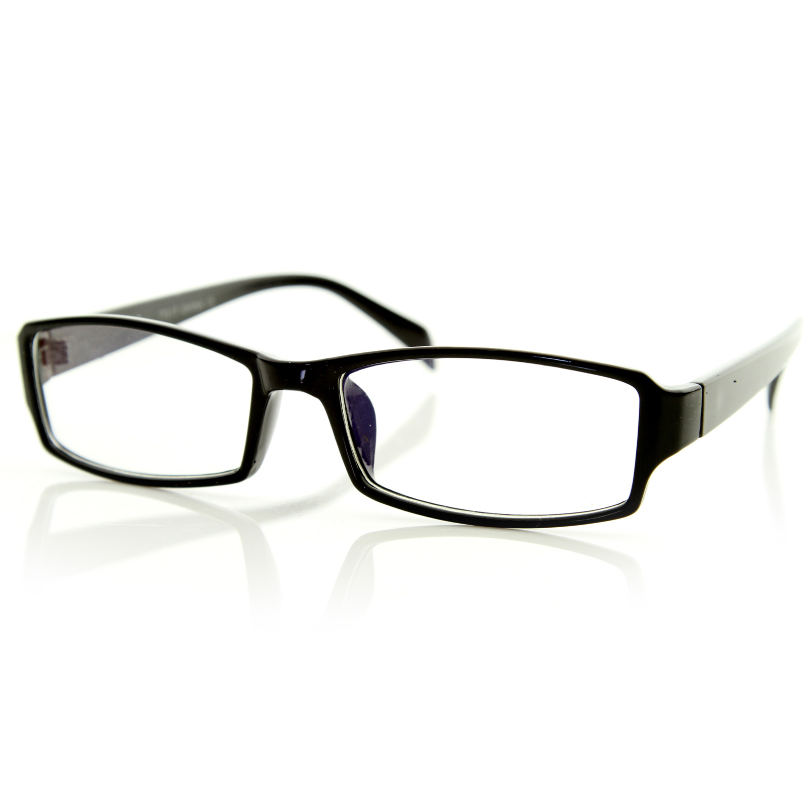 Clear Framed Fashion Glasses : Modern Rectangular Basic Frame Clear Lens Fashion Small ...