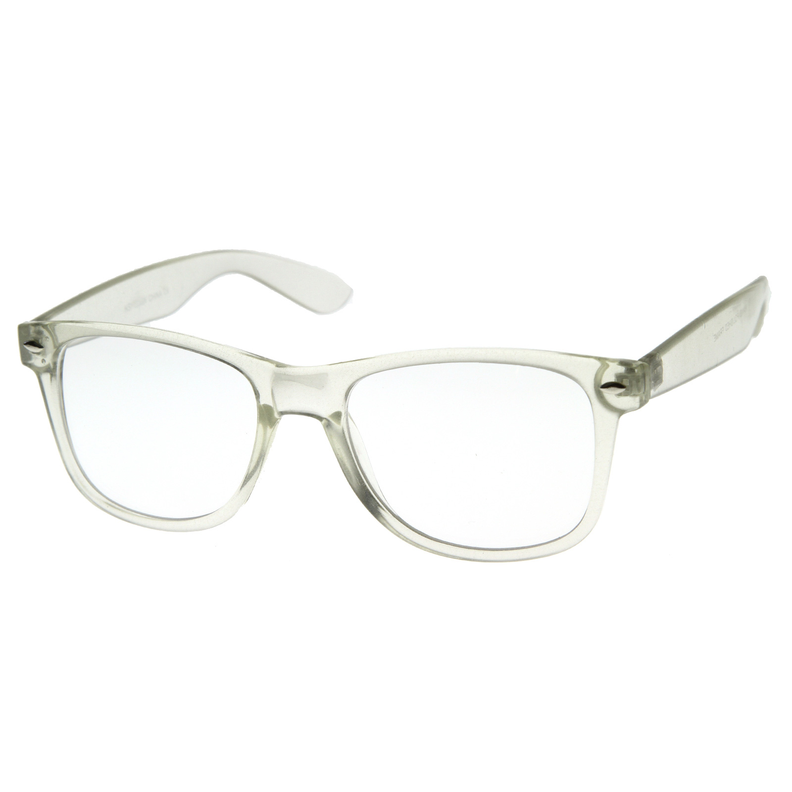 Clear Transparent Translucent Crystal Frame Clear Lens ...