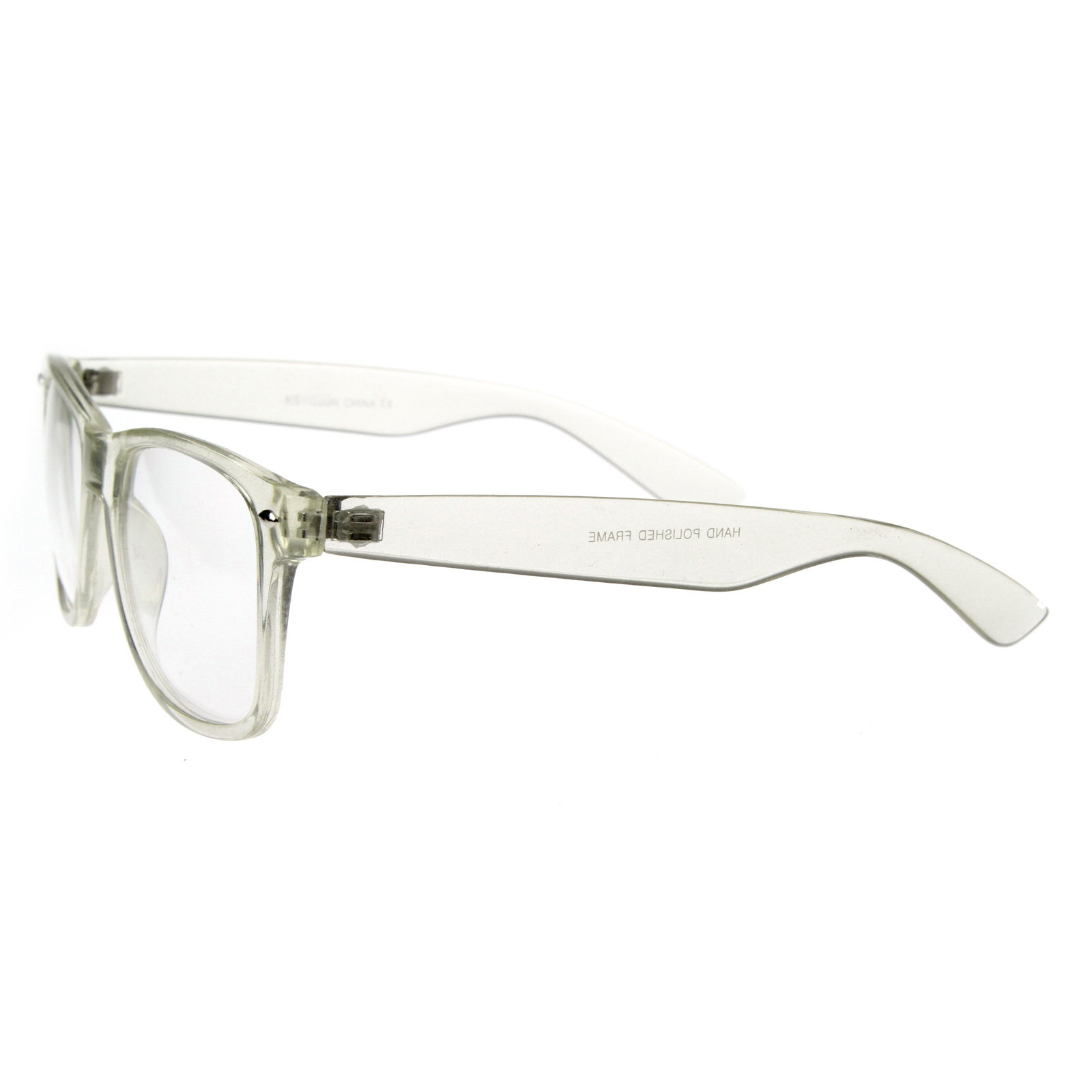 Clear Transparent Translucent Crystal Frame Clear Lens ...