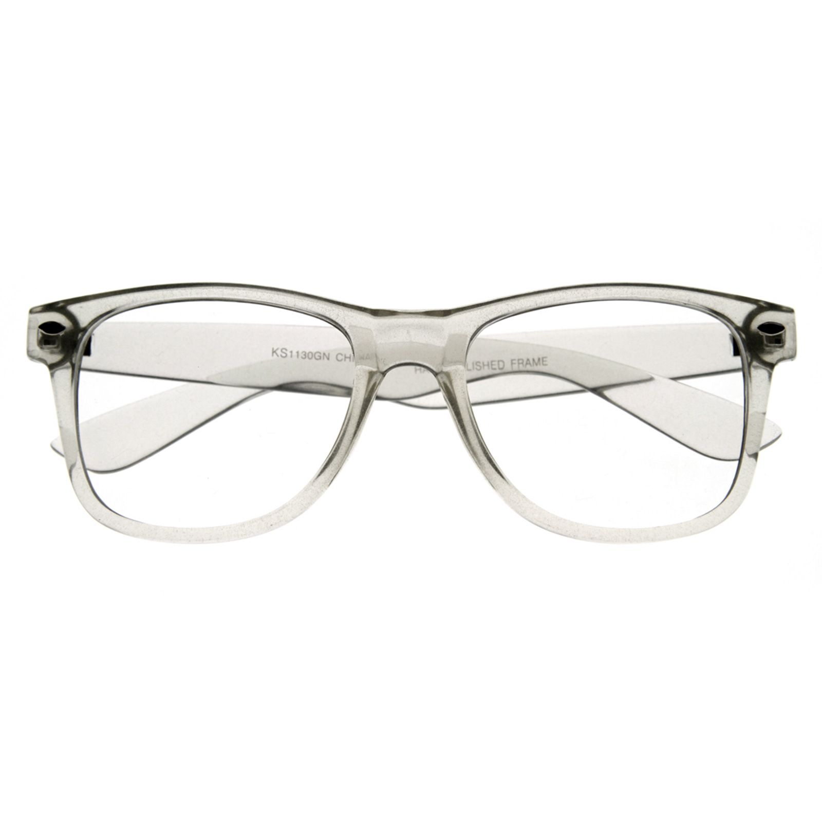 Clear rimmed glasses will put the attention on you, and not your eyewear. Clear frames on sunglasses or transparent glasses frames are both good choices if you like to be different from the crowd. If you are looking for clear LENS glasses, or clear fashion glasses without a prescription, please contact one of our expert opticians and we can put.
