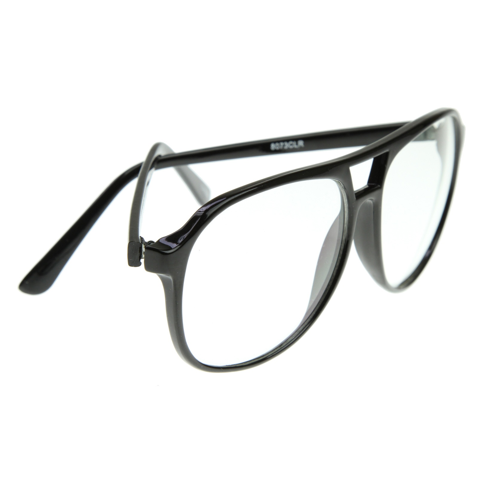 Cool Trendy Thin Frame Large Retro Pops Mens Clear Lens ...
