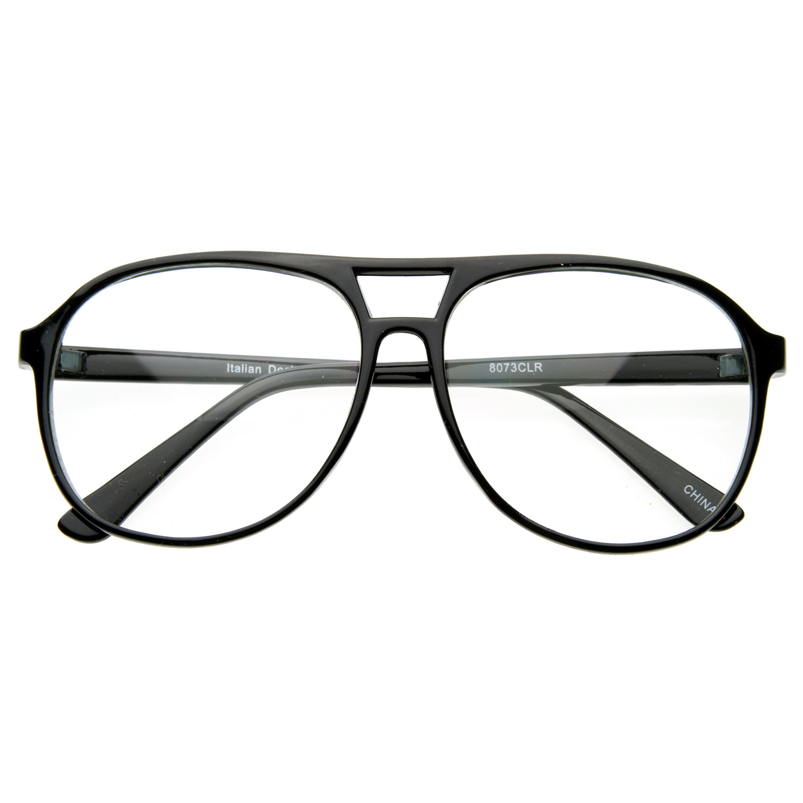 Large Frame Retro Reading Glasses : Cool Trendy Thin Frame Large Retro Pops Mens Clear Lens ...