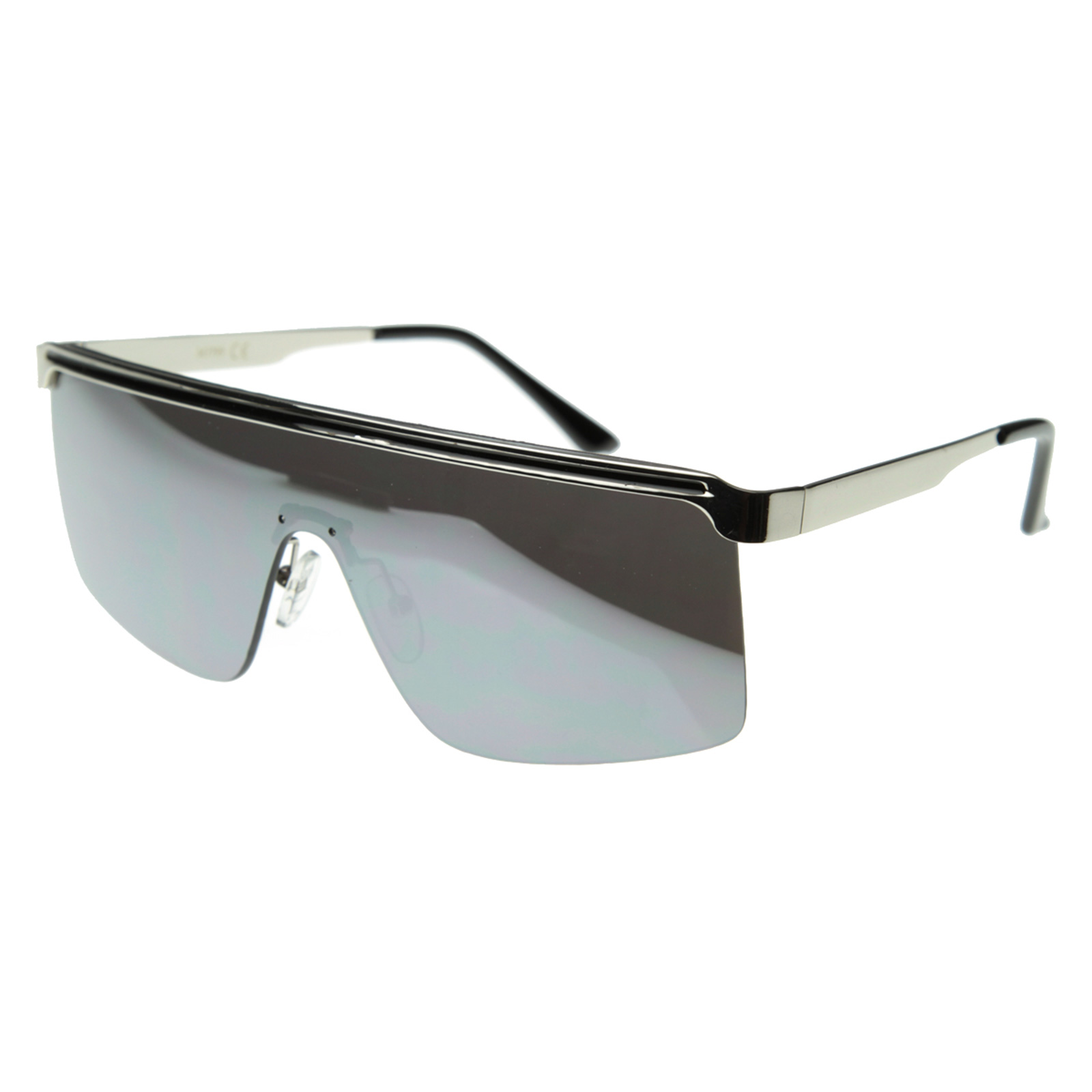 Future Modern Frameless Flat Top Shield Sunglasses 8257 eBay