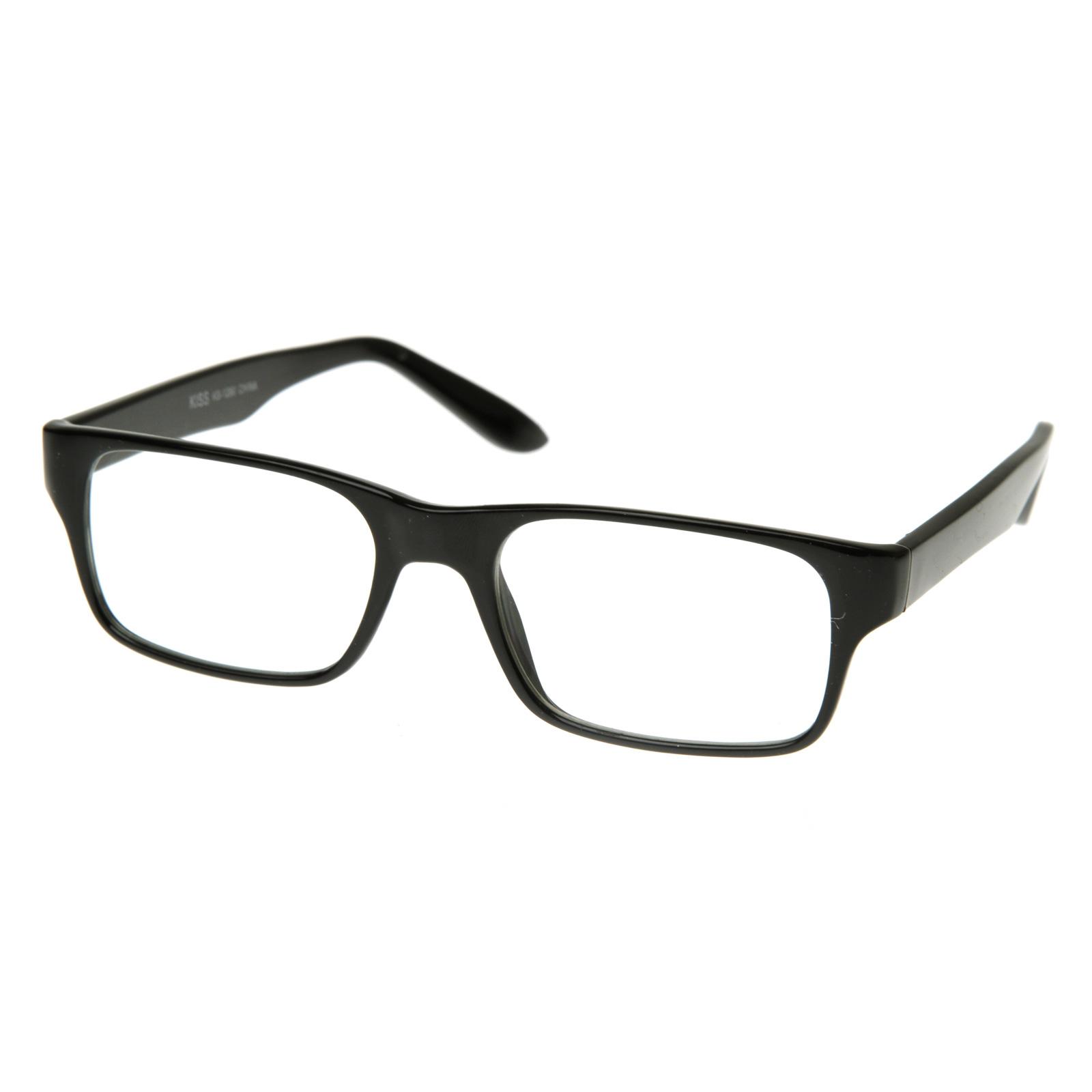 Eyeglasses Thin Frame : Thin Premium RX Optical Fream Square Clear Lens Optical ...