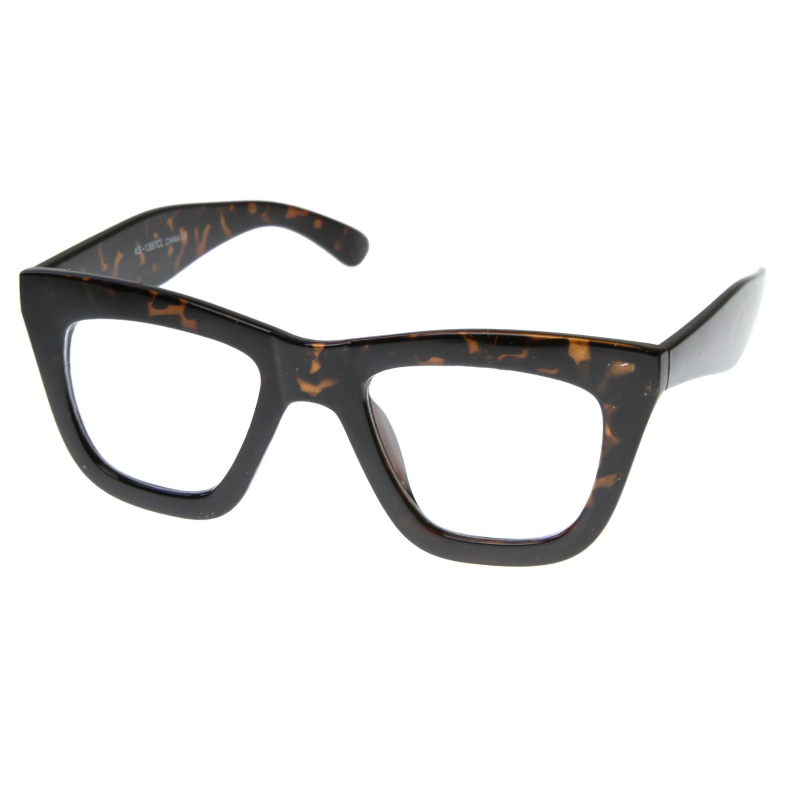 Frame Glasses On Shark Tank : Super Trendy Thick Frame Shark Fin New Clear Lens UV400 ...