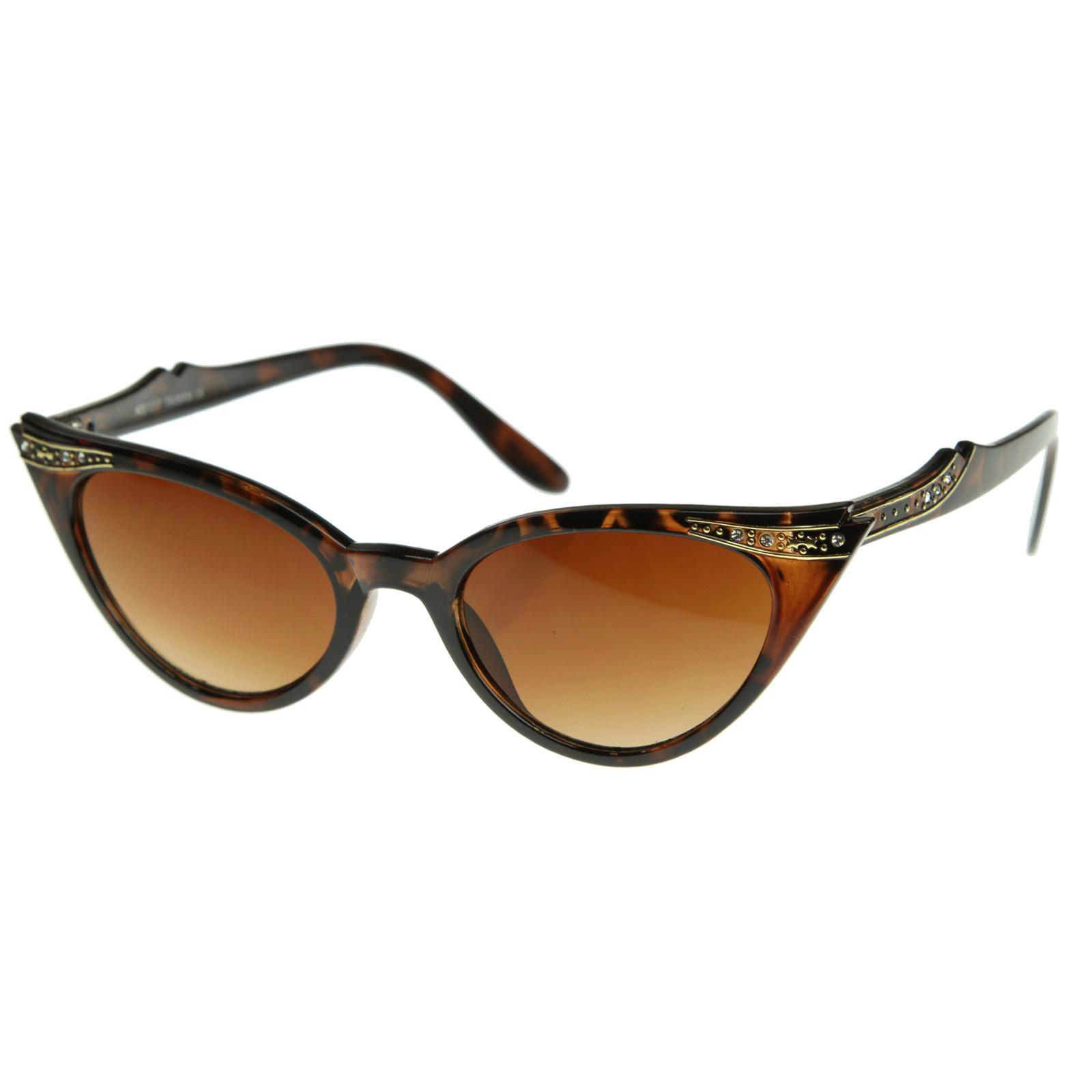 Rhinestone Cat Eye Sunglasses