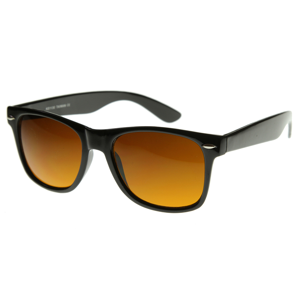 blue blocking driving horn rimmed sunglasses tinted