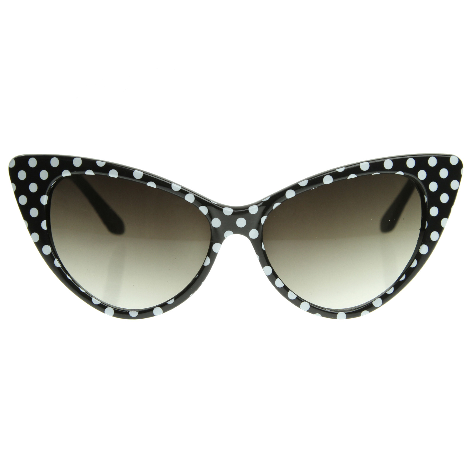 Details about Retro Polka Dot Cat Cute Eye Womens Fashion Super ...