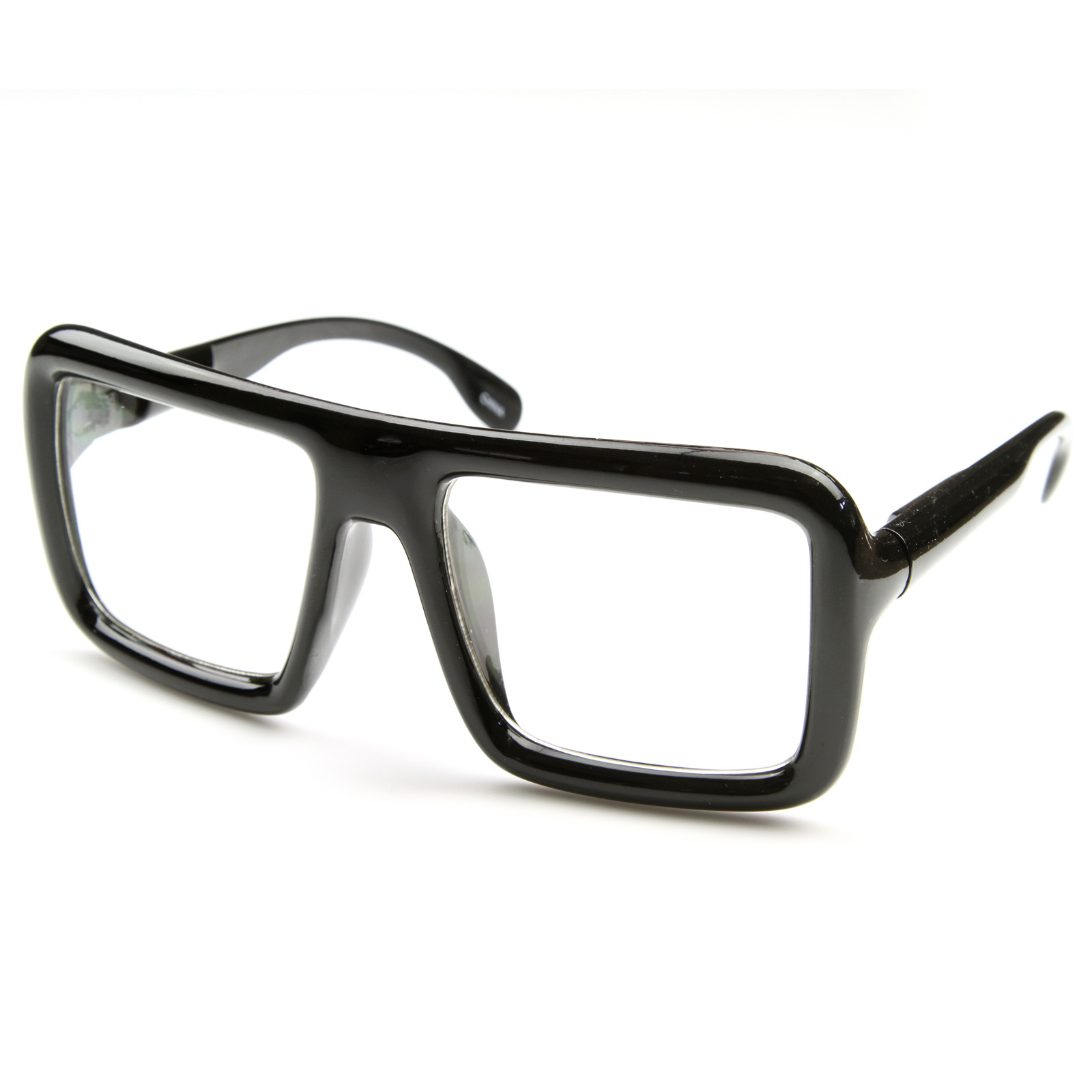 Black Frame Glasses Images : Cool Large Hipster Super Block Thick Square Frame Clear ...