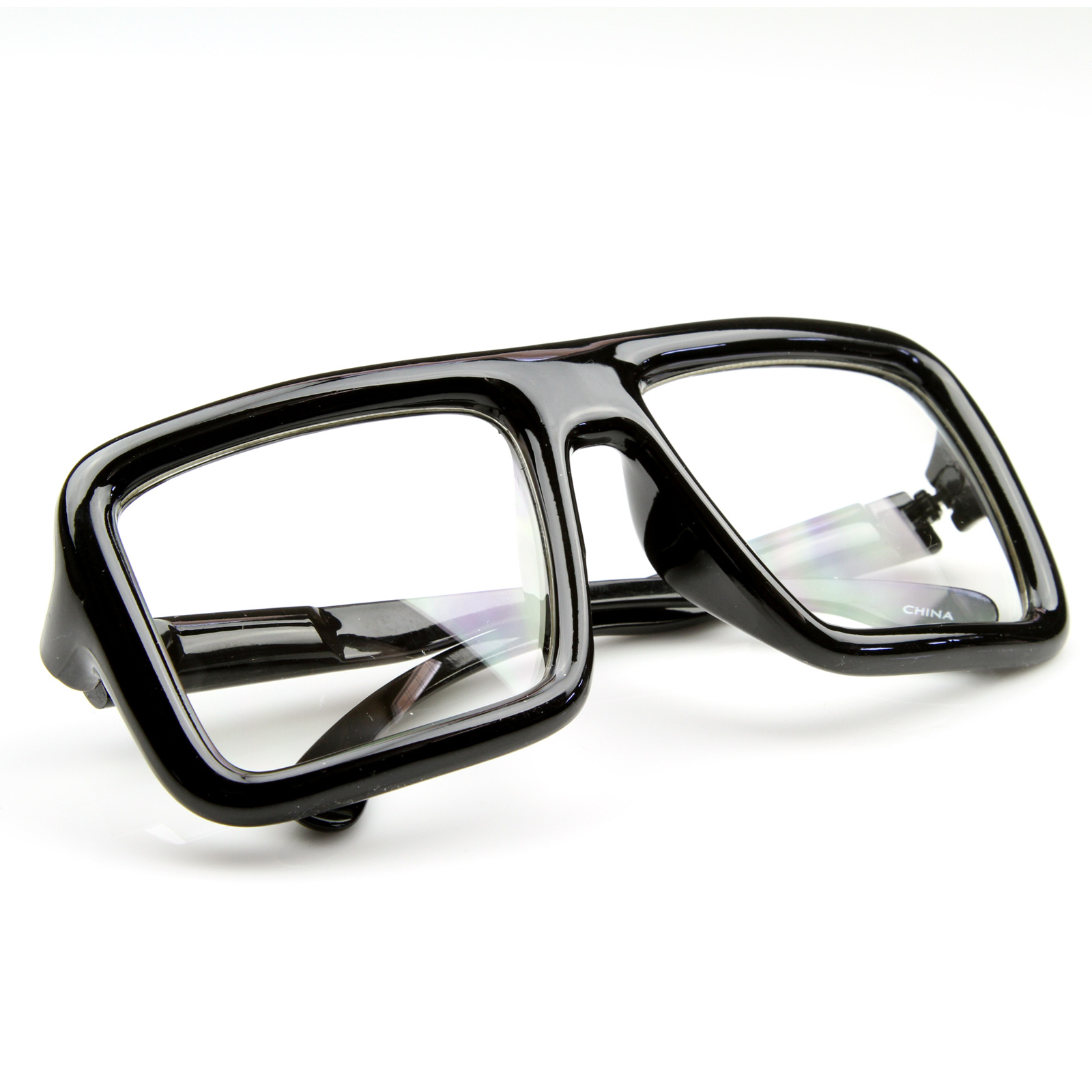 Big Thick Frame Glasses : Cool Large Hipster Super Block Thick Square Frame Clear ...