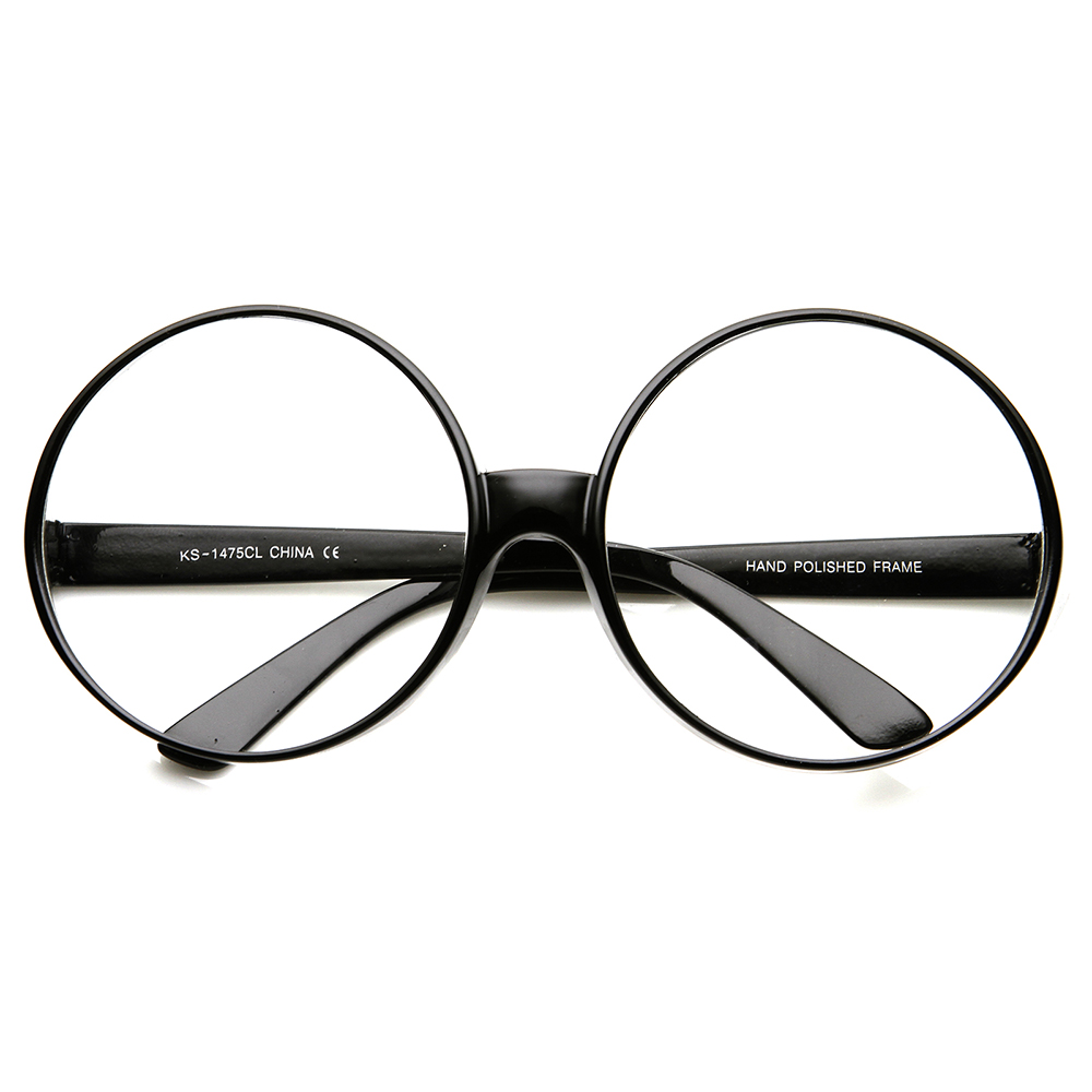 Big Circle Frame Glasses : Super Large Oversize Womens Fashion Circle Round Clear ...