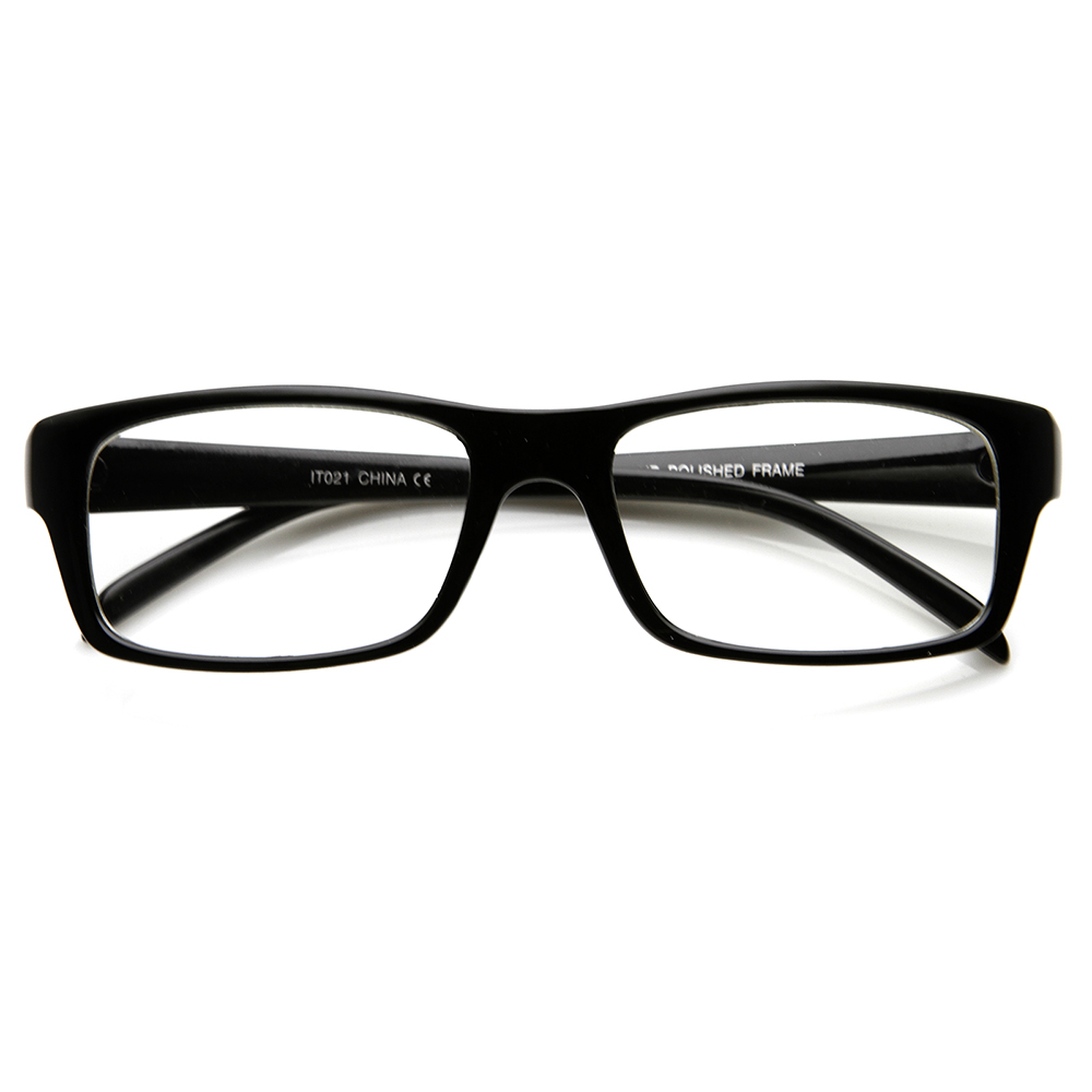 Optical New Modern Fashion Thin Frame Clear Lens Eye ...