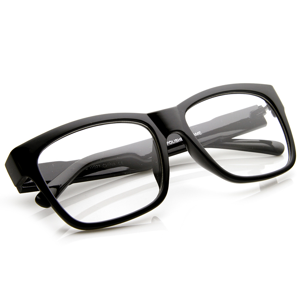 Large Fashion Hipster Bold Thick Square Frame Clear Lens ...