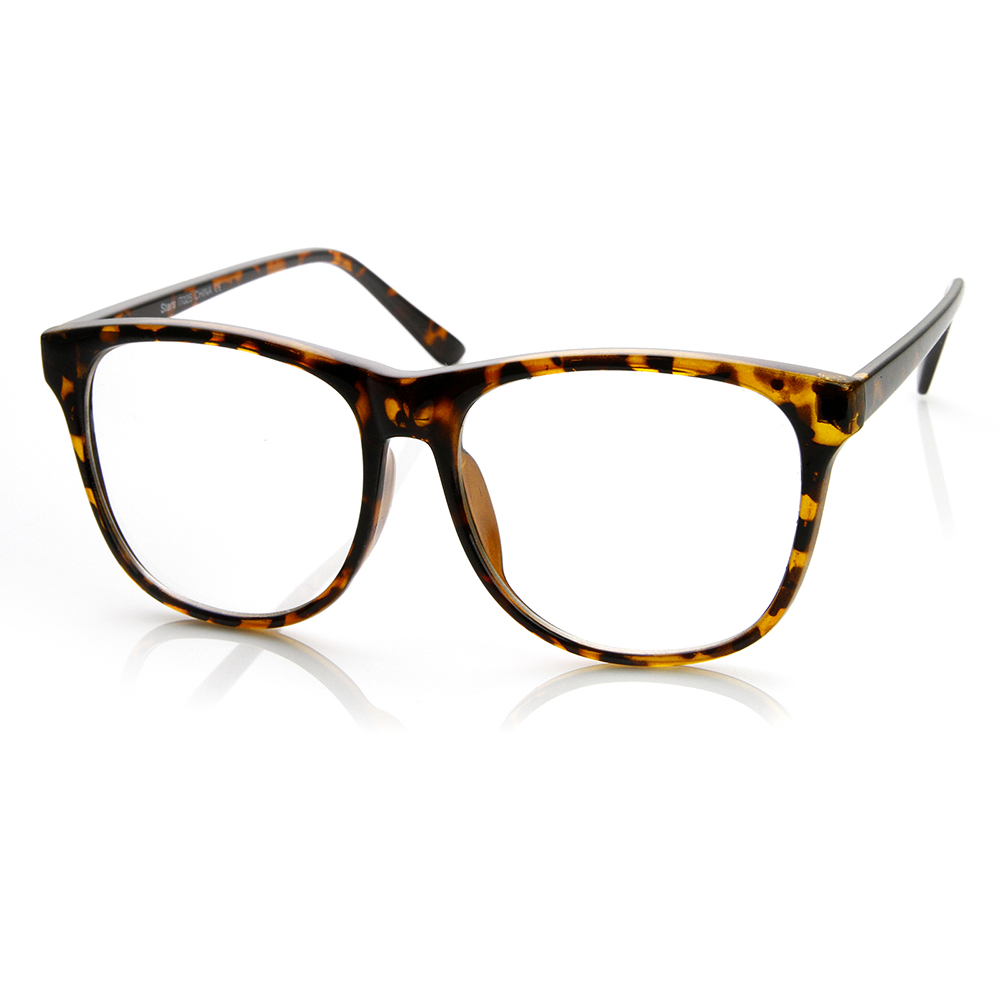 Large Oversized Bold Frame Clear Lens Horn Rimmed Glasses ...