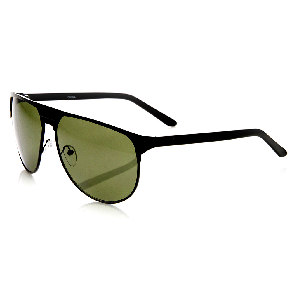 Large Frame Mens Glasses : Mens Sunglasses Modern Fashion Large Metal Frame Flat Top ...