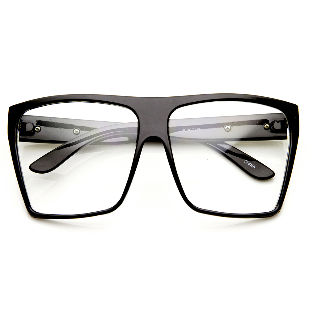 Nerd Hipster Oversized Retro Fashion Clear Lens Square ...