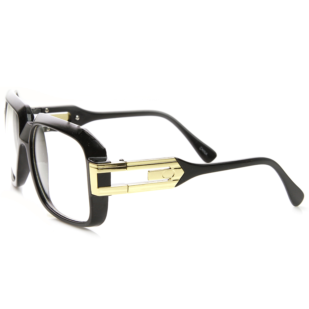 Large Classic Hip Hop Retro Square Frame Clear Lens ...