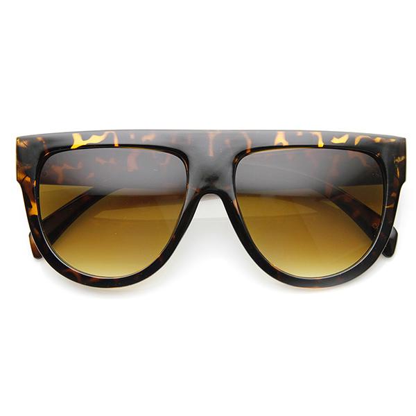Best Wide Frame Glasses : Large Oversized Flat Top Teardrop Frame Aviator Sunglasses