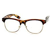 Rimless Glasses Vs Rimmed : Classic Half Frame Semi-Rimless Clear Lens Horn Rimmed ...